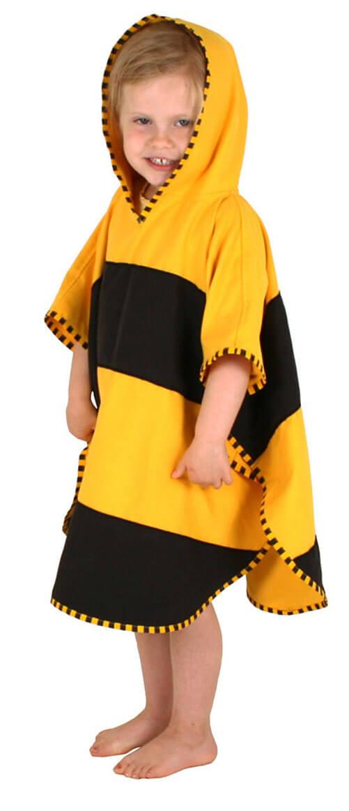 poncho dla dziecka ręcznik pszczółka z kapturem na plażę