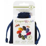 Naturalne kredki Crayon Rocks w aksamitnym woreczku 8 kolorów