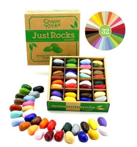 Naturalne kredki Crayon Rocks w pudełku 64 sztuki 32 kolory