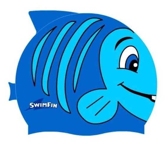 czepek pływacki dla dzieci swinfin rybka niebieski