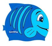 Silikonowy czepek dla dzieci SwimFin niebieski