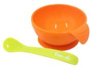 Antypoślizgowa miseczka dla dzieci Koo-di pomarańczowa