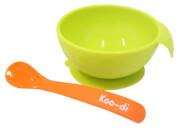 Antypoślizgowa miseczka dla dzieci Koo-di zielona