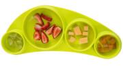 Silikonowy talerz dla dziecka Tinny Tapas green Koo-di