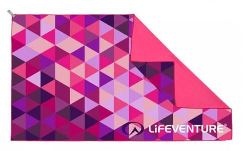 Duży ręcznik SoftFibre Advance Trek Towel Giant Pink Triangles Lifeventure
