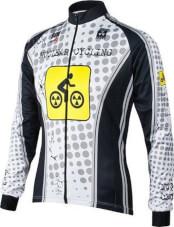 Bluza rowerowa BCM Nowatex Nuclear Cycling White