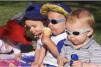 Okulary przeciwsłoneczne dla dzieci Banz Dooky Grey Stars