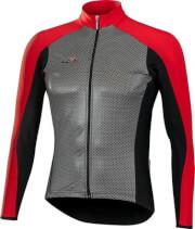 Ciepła bluza kolarska SuperRoubaix z wiatroodpornym przodem Gamex Vezuvio czerwona