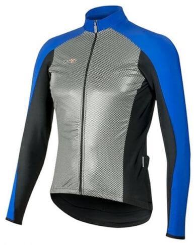 Ciepła bluza kolarska SuperRoubaix z wiatroodpornym przodem Gamex Vezuvio niebieska