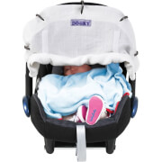 Muślinowa osłonka do wózka lub fotelika dziecięcego Breeze White Dooky