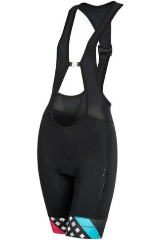 DAMSKIE spodenki rowerowe Vezuvio VR5 z szelkami i z wkładką LaFonte Lady