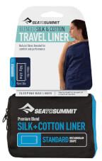 Prześcieradło Silk Cotton Liner Standard Rectangular granatowe Sea to Summit