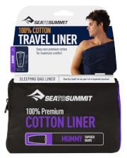 Prześcieradło do śpiwora Premium Cotton Mummy Tapered granatowe Sea to Summit