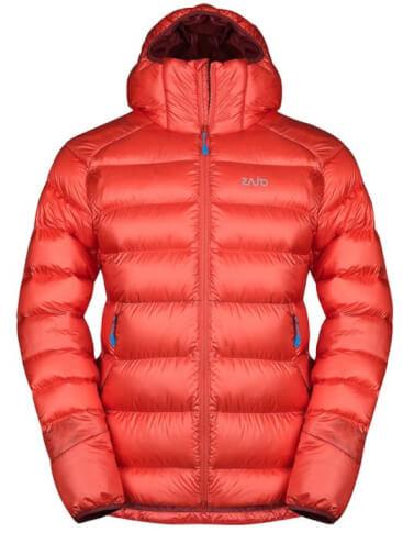 Puchowa kurtka zimowa męska Zajo Moritz Jkt czerwona