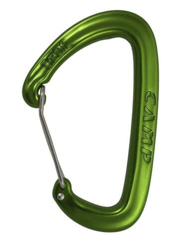Karabinek wspinaczkowy do ekspresów Orbit Wire CAMP zielony