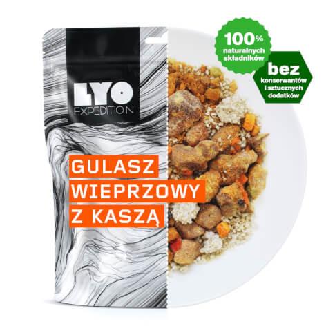 Posiłek gulasz wieprzowy z kaszą 370g (liofilizat) - żywność liofilizowana LYOfood