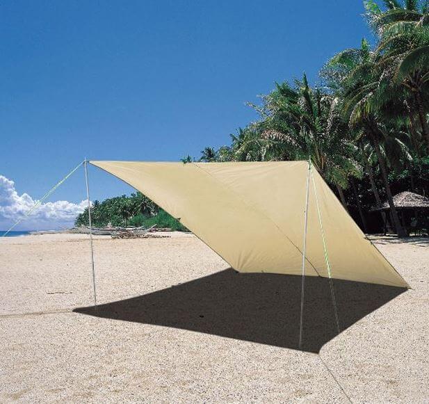 tarp przeciwsłoneczny zadaszenie na plażę