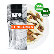 Posiłek strogonow z makaronem penne 370g (liofilizat) - żywność liofilizowana LYOfood
