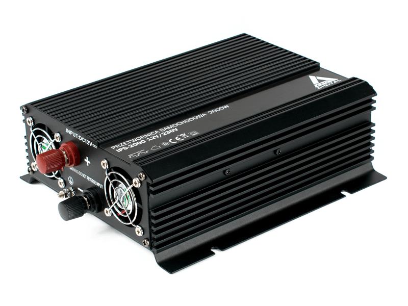 Mocna przetwornica samochodowa IPS 12V 230V