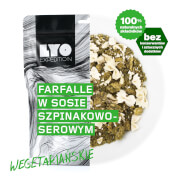 Posiłek makaron farfalle w sosie szpinakowo serowym 370g (liofilizat) - żywność liofilizowana LYOfood