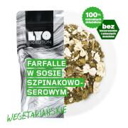 Posiłek makaron farfalle w sosie szpinakowo serowym 500g (liofilizat) - żywność liofilizowana LYOfood