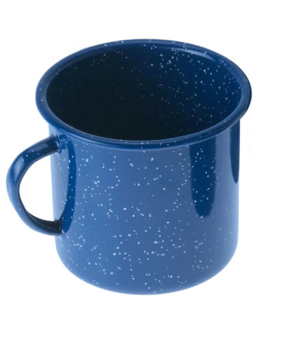 Stalowy kubek turystyczny Delux Enamelware Cup 118 ml Blue GSI Outdoors