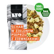 Schab w sosie z zielonego pieprzu 500g Duża porcja LYO Food