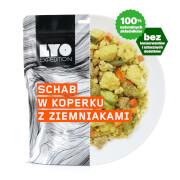Posiłek schab w sosie koperkowym 370g (liofilizat) - żywność liofilizowana LYOfood