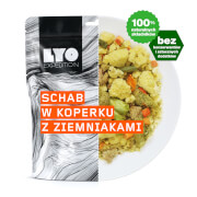 Schab w sosie koperkowym LYO Food 500g Podwójna porcja