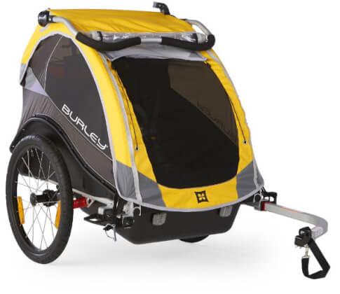 Przyczepka rowerowa Burley Cub żółta