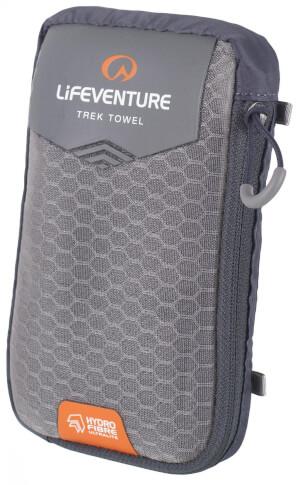 Ultraszybkoschnący ręcznik HydroFibre Trek Towel Large 65x110cm szary Lifeventure