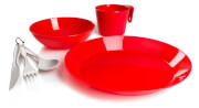 Zestaw turystyczny dla 1 osoby Cascadian 1 Person Table Set Red GSI Outdoors