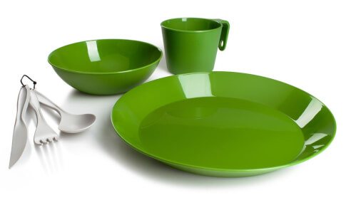 Zestaw turystyczny dla 1 osoby Cascadian 1 Person Table Set Green GSI Outdoors