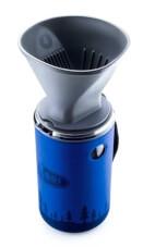 Turystyczny kubek termiczny z filtrem do parzenia kawy 30 FL. OZ. Java Drip 850 ml GSI Outdoors niebieski