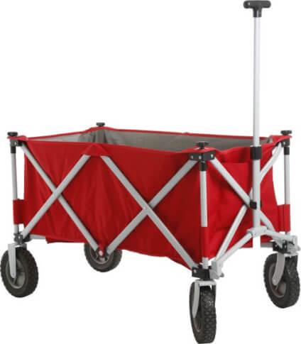 Składany wózek transportowy Cargo czerwony Brunner