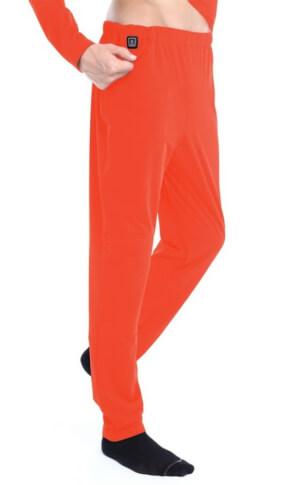 Spodnie ogrzewane elektrycznie Glovii pomarańczowe