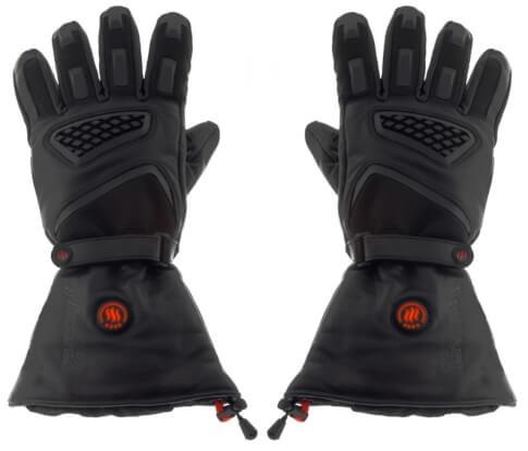 Ogrzewane rękawice motocyklowe ze skóry naturalnej Glovii czarne