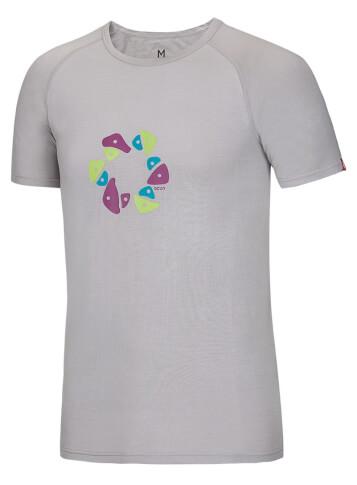 Koszulka wspinaczkowa Bamboo T Holds Ocun Dove Grey