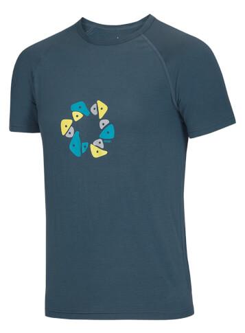 Koszulka wspinaczkowa Bamboo T Holds Ocun Slate Blue