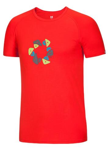 Koszulka wspinaczkowa Bamboo T Holds Ocun Flame Red