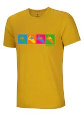 T-shirt outdoorowy Pop Art Shoes Tee Ocun Oil Yellow