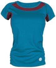 Damska koszulka TLELL LADY Milo turquoise burgundy