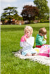 Bidon dziecięcy ze słomką 400 ml różowy motylek LittleLife