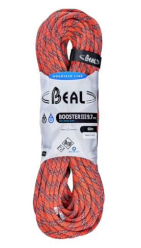 Lina dynamiczna Booster 9,7 mm x 60 m Golden Dry Orange Beal