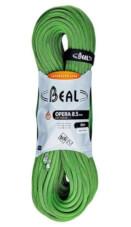 Lina dynamiczna pojedyncza, podwójna, bliźniacza Opera Unicore 8,5 mm x 80 m Dry Cover Green Beal