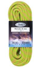 Lina turystyczna dynamiczna Rando 8 mm x 30 m Golden Dry Yellow Beal