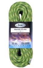 Lina turystyczna dynamiczna Rando 8 mm x 20 m Standard Green Beal