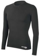 Koszulka męska z długim rękawem medium potówka czarna