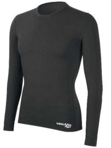 Koszulka męska z długim rękawem medium Q-Skin czarna