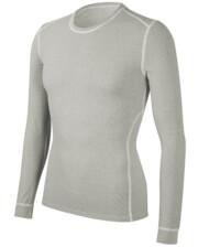 Koszulka męska z długim rękawem medium potówka biała